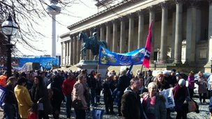 NUT rally in Liverpool
