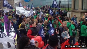 NUT rally in Manchester