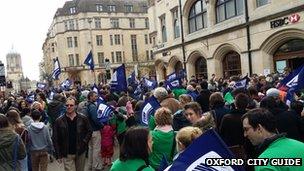 NUT demonstration in Oxford