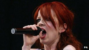 Garbage lead singer Shirley Manson