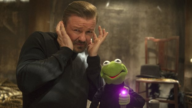 Ricky Gervais plays Dominic Badguy, sidekick to frog villain Constantine
