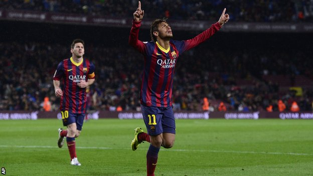 Neymar scores twice as Barcelona win