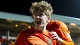 Ryan Gauld celebrates putting Dundee United 1-0 up against Inverness
