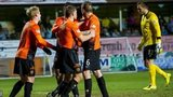 Ryan Dow's team-mates help him celebrate as Dundee United beat Inverness