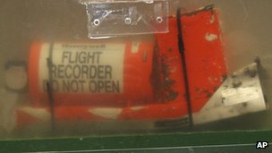 File photo: One of the two flight recorders of the Air France flight 447, 12 May 2011