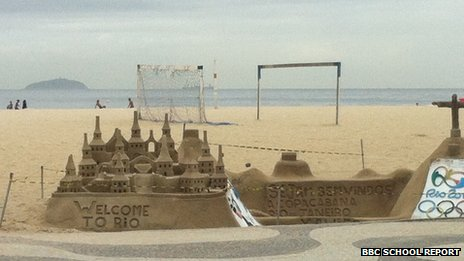 Welcome to Rio sandcastle