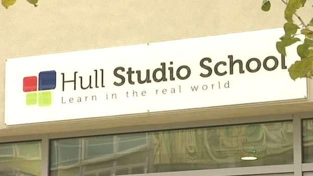 Hull Studio School sign