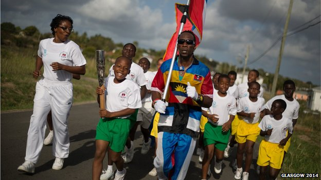 Flag Man of Antigua
