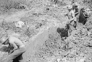 Sappers and miners dig tunnels