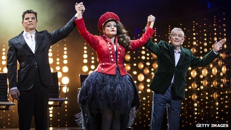 Nigel Harman, Victoria Elliott and Ashley Knight in I Can't Sing