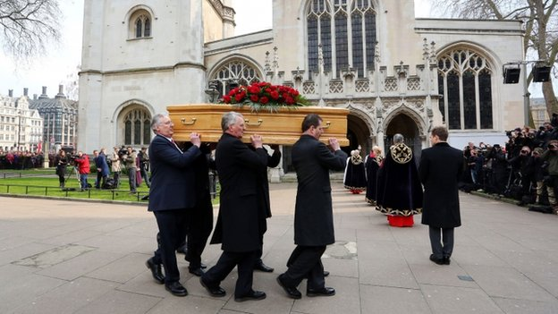 Tony Benn's sons and grandsons carried his coffin