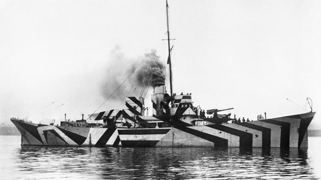 A Dazzle Ship from Imperial War Museum archive