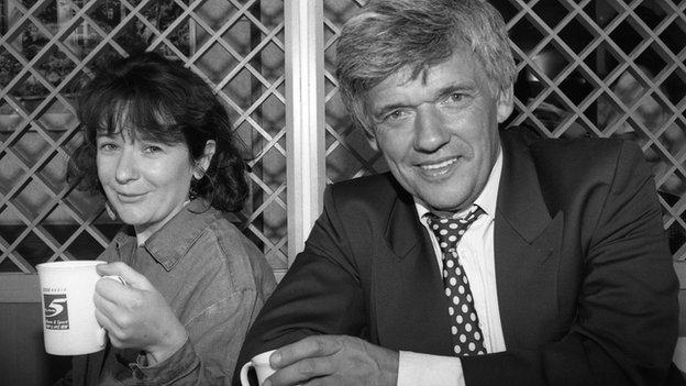 Jane Garvey and Peter Allen