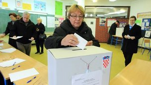 Voters in Croatia