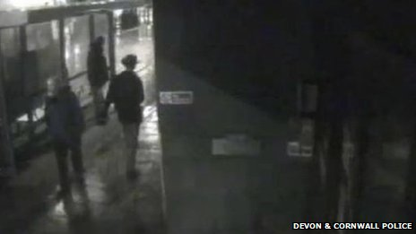 CCTV footage of a man matching Alan Jeal's description