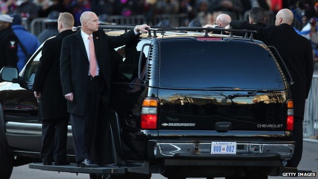 Agents, shown in a presidential motorcade in January 2013, are entrusted with the president's life