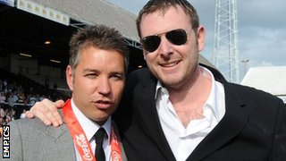 Darren Ferguson and Darragh MacAnthony