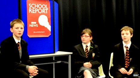 Pupils at Lagan College debate integrated education for School Report