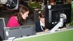 BBC Midlands Today's Rebecca Wood with School Reporter Lola