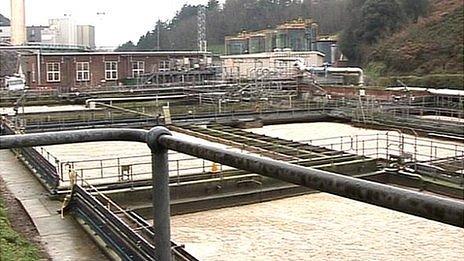 Jersey's sewage treatment plant