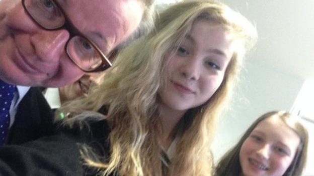 Michael Gove selfie