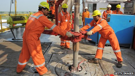 Shale gas test well in India