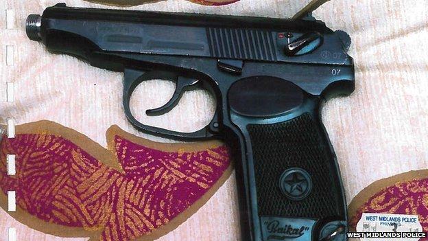 Handgun found