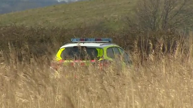 Police car at Newport Wetlands