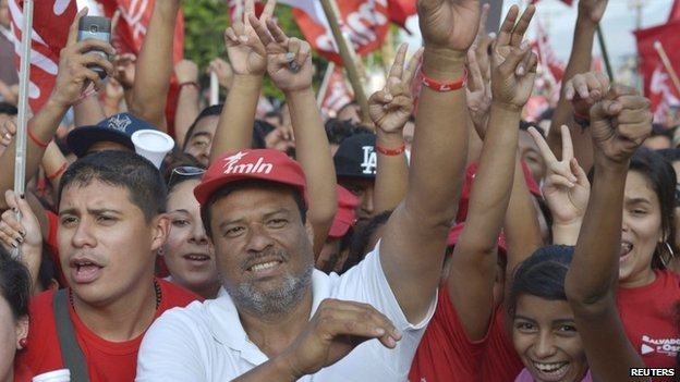 El Salvador FMLN supporters, 15 March 14