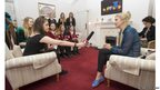 Students from The Red Maids' School, Bristol, interview Rebecca Adlington OBE