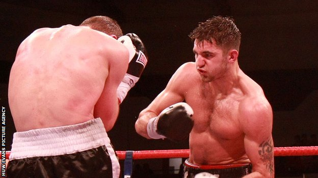 Nathan Cleverly on the attack during a title fight