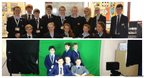 Gresham's School, Norfolk (Above) and St Anselm's College, Wirral gather for their photos