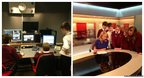 Somervale School students at BBC studios in Bristol