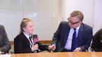 Gove being interviewed by School Reporter