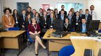 The team of pupils at William Farr Church of England Secondary School in Lincoln.
