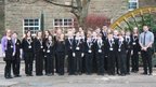The team of Reporters at Newbridge School in Caerphilly on News Day 2014.