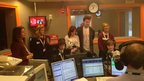 School Reporters from Sirius Academy in Hull in the studio at BBC Radio Humberside.