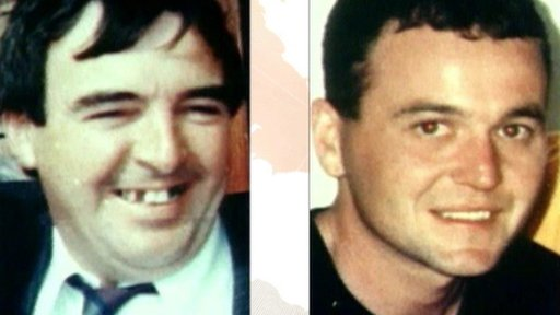 Eamon Fox, 44, and Gary Convie, 24, were shot dead by the Ulster Volunteer Force
