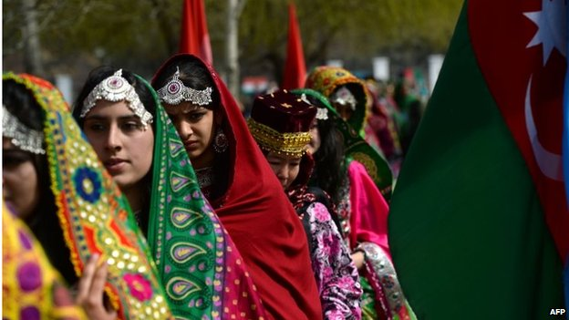 Traditionally clad Afghan women attend the official Nawroz festivities at the Presidential Palace