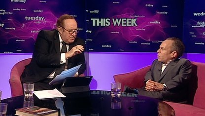 Andrew Neil and Warwick Davis