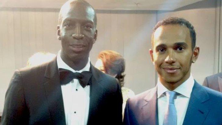 Michael Johnson and Lewis Hamilton