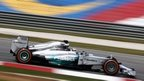 Mercedes's Lewis Hamilton sets the pace in first practice in Malaysia