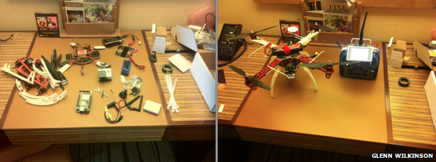 Glenn Wilkinson's quadcopter drone set up