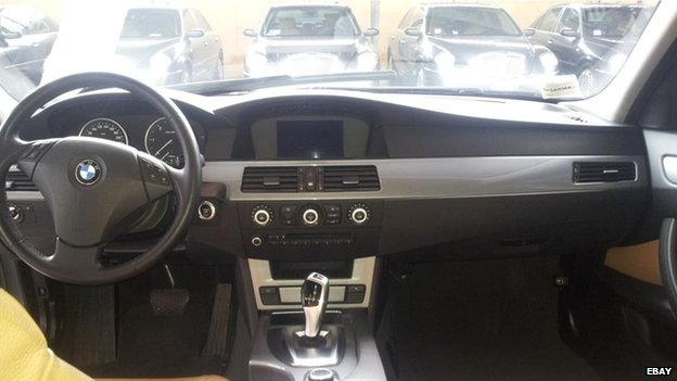 Interior shot of a BMW being sold by the Italian government