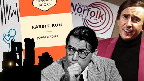 Great characters - Alan Patridge, Gregory Peck and the dust jacket for Rabbit, Run