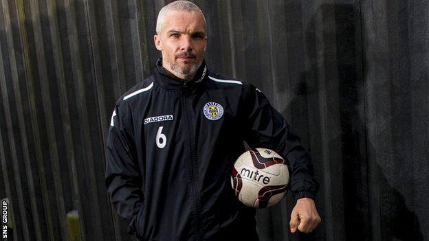 St Mirren captain Jim Goodwin