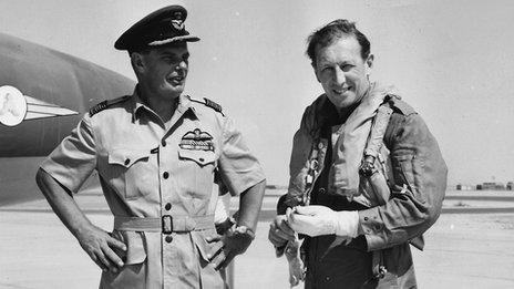 Chapman pictured in Aden with the RAF