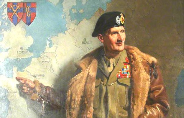 Painting of Field Marshal Montgomery