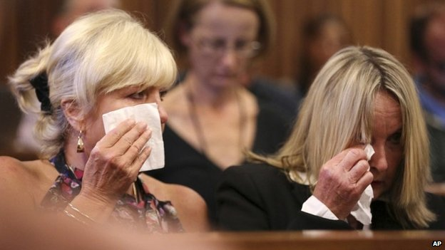June Steenkamp, right, mother of the late Reeva Steenkamp