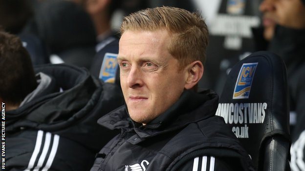 Swansea City head coach Garry Monk